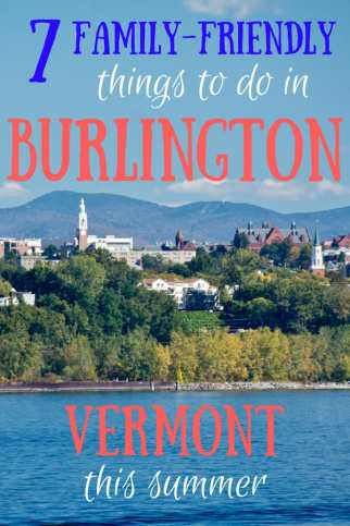 Pinterest image - Burlington, Vermont from the water