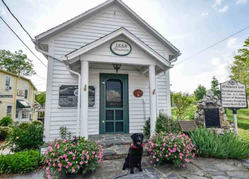 The 1888 museum in Blowing Rock