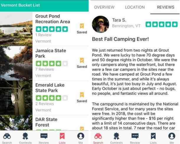 The Dyrt Camping App