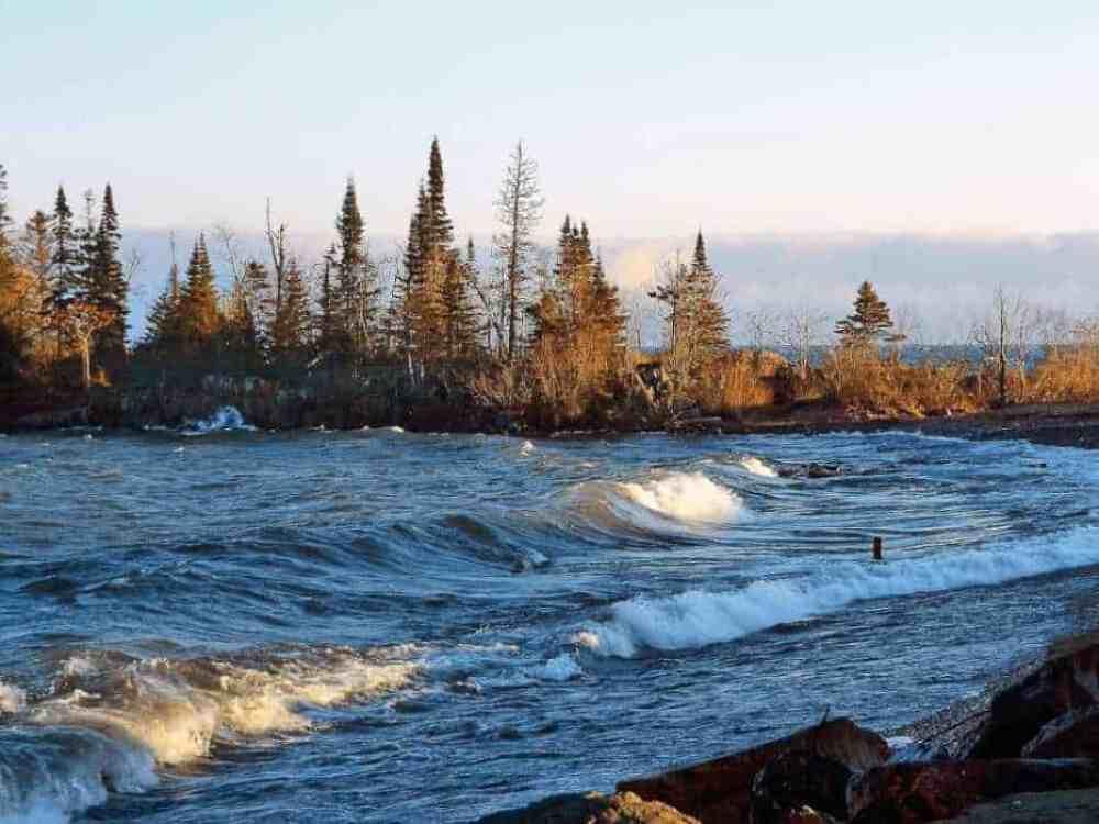 Choppy waters of Lake Superior near Grand Marais