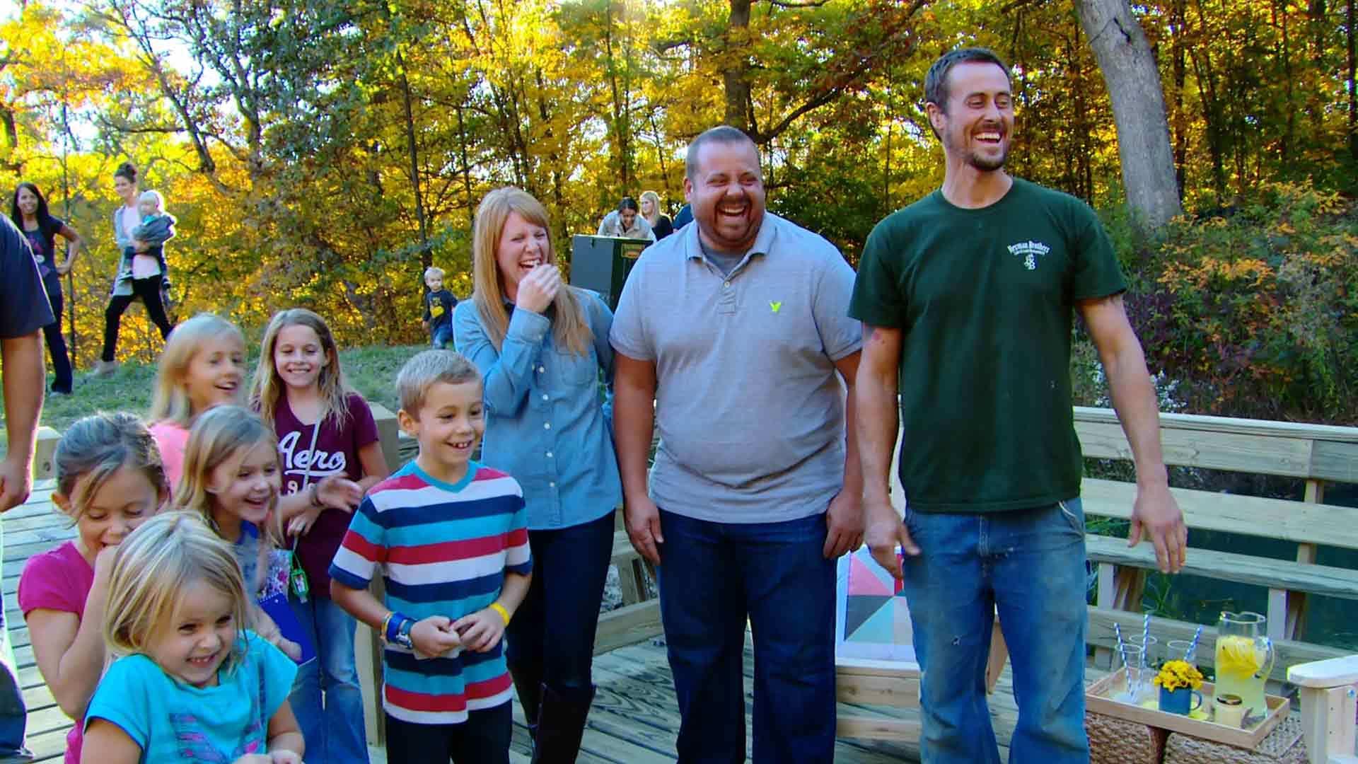 Lake Life Happy Family