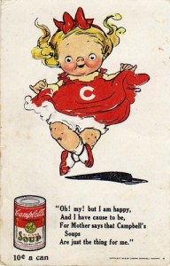 Campbells Dolly Dingle Magnet For Refrigerator