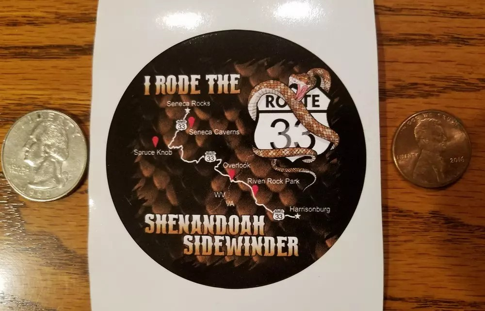 SHENANDOAH SIDEWINDER – RIDE STICKER