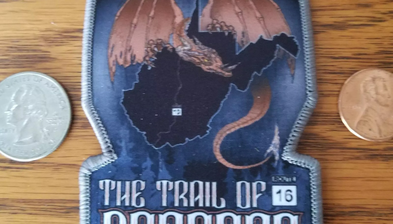TRAIL OF DRAGONS IRON-ON PATCH