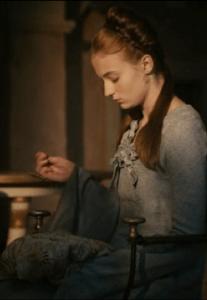 Sansa S1 Cersei Hair Blue Dress