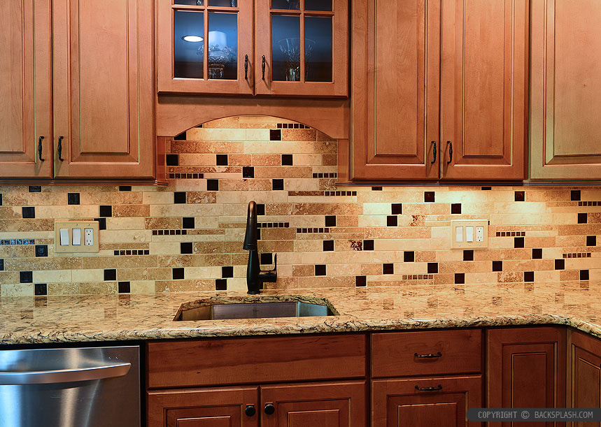 travertine kitchen backsplash stonewall products tile photos ideas brown cabinet glass