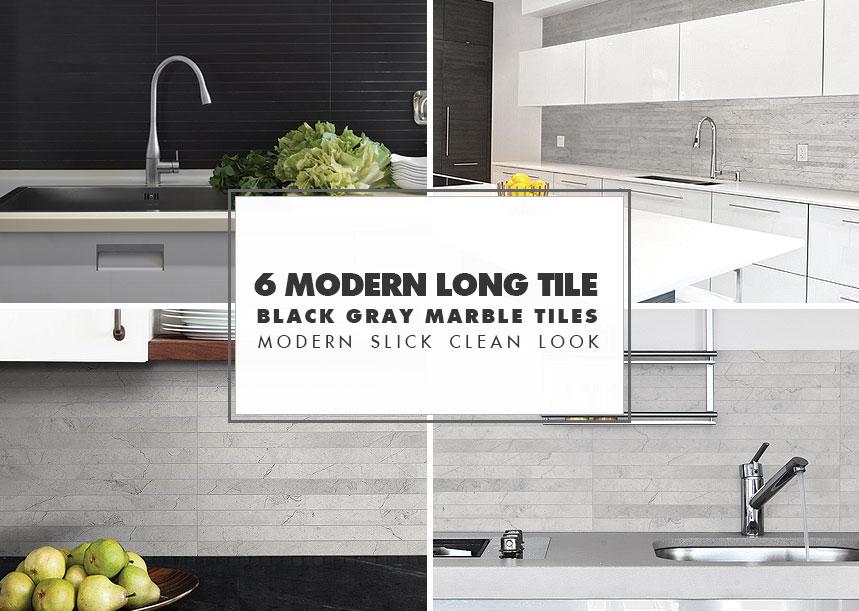 modern kitchen backsplash metal cabinets ideas black gray tiles