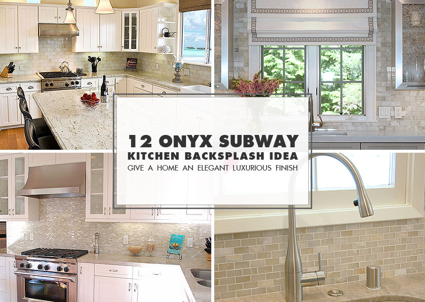glass tile kitchen countertop marble countertops 12 white onyx subway backsplash idea
