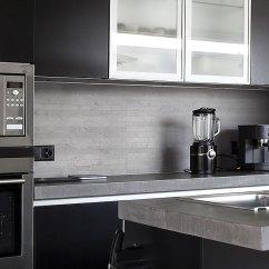 Grey Kitchen Backsplash Brandsmart Appliance Packages Light Gray Long Subway Tile Modern Home