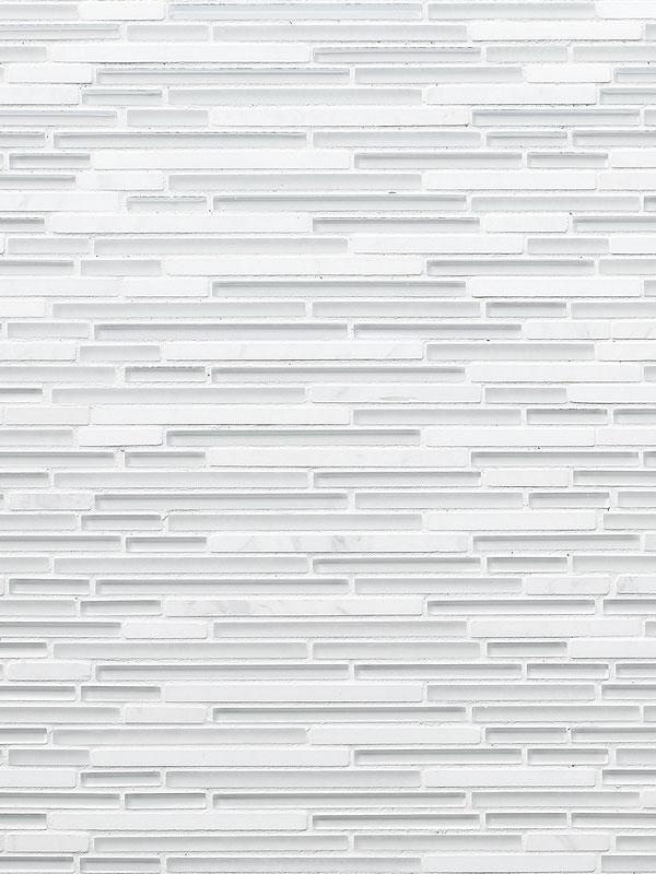 MODERN White Marble Glass Linear Backsplash Tile