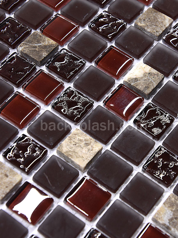 slate backsplash in kitchen panels burgundy marble & glass mixed mosaic tile