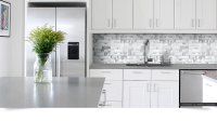 White Glass Metal MODERN BACKSPLASH TILE for Contemporary ...