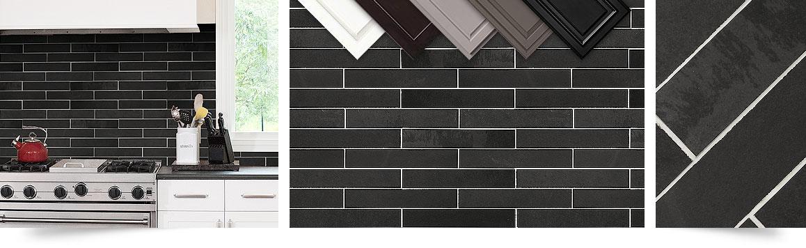 Black Slate Mosaic Kitchen Backsplash Tile