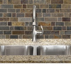 Mosaic Kitchen Tile Aid Walmart Rusty Brown Slate Backsplash For Traditional Multi Color From Com