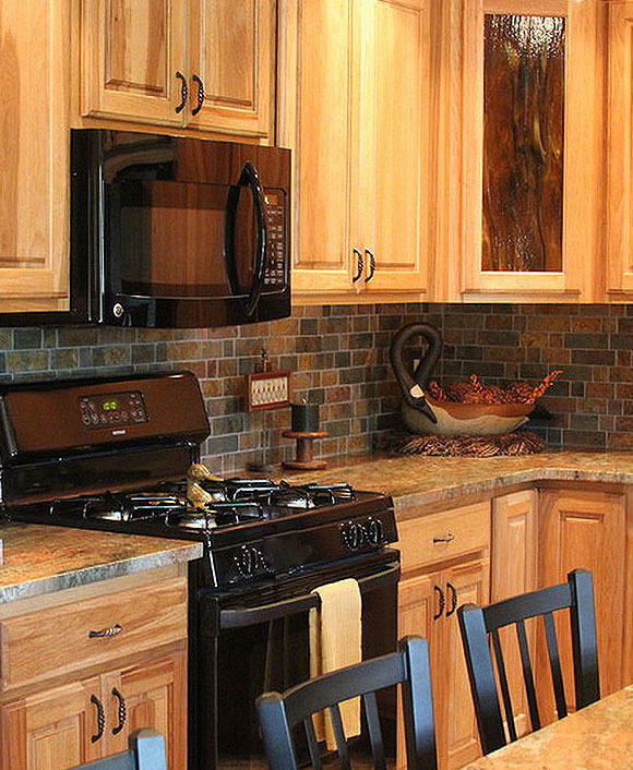 slate backsplash in kitchen cheap hotels with kitchens rusty brown mosaic tile for traditional