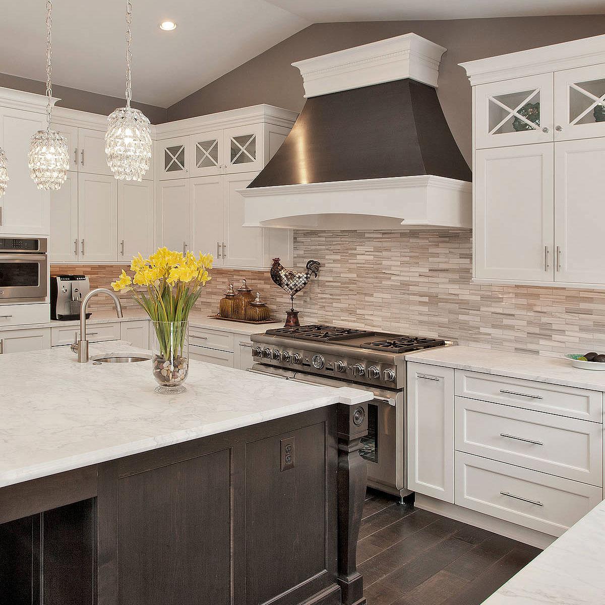 Modern White Kitchen Backsplash Ideas Novocom Top