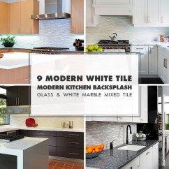 Glass Kitchen Backsplash Pub Style Table Tile Ideas Projects Photos Com 9 White Modern