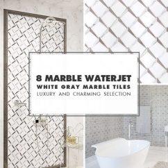 Mosaic Kitchen Tile Pub Table Set Backsplash Ideas Projects Photos Com Waterjet White Gray
