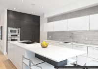 MODERN KITCHEN Backsplash Ideas | Black Gray Tiles