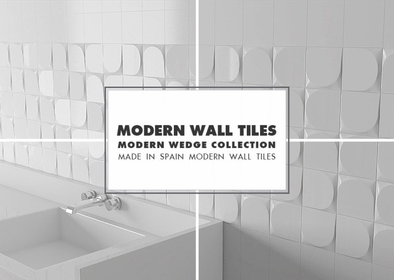 Modern Wall Tile Ideas Wedge Collection