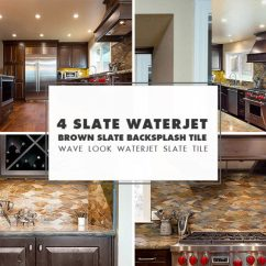 Slate Backsplash In Kitchen Virtual Design Tile Ideas Projects Photos Com Waterjet Brown Gray