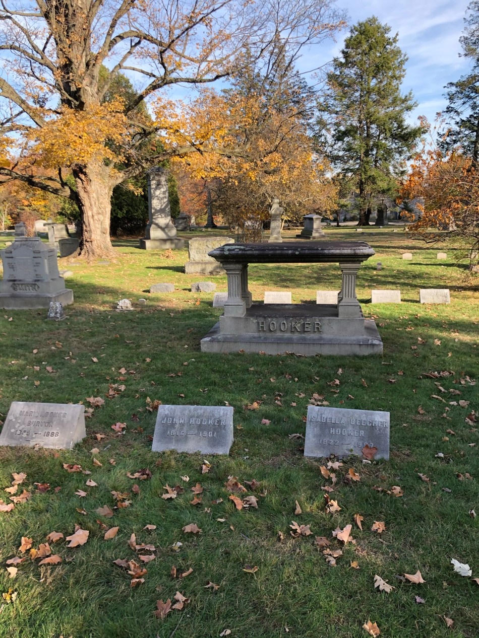 Thomas Hooker founded Hartford, these are the graves of his family