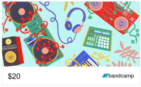 Bandcamp gift cards are a great gift for concert lovers!