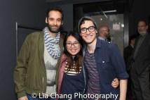 Jonathan Raviv, lighting designer Wen-Ling Liao and Troy Iwata. Photo by Lia Chang