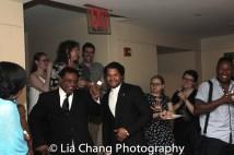 Harvy Blanks and Brandon J. Dirden arrive at the Samuel J. Friedman Theatre. Photo by Lia Chang
