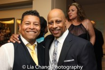 Jim Joseph, Theatre Manager of the Samuel J. Friedman Theatre and Ruben Santiago-Hudson. Photo by Lia Chang