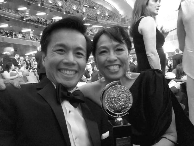 Steven Eng and Baayork Lee at the 71st Annual Tony Awards at Radio City Music Hall on June 11, 2017. Photo courtesy of Steven Eng/Facebook