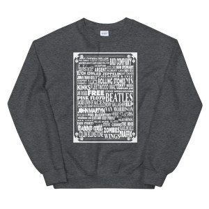British Bands Rock And Roll Sweatshirt