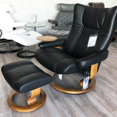 Black Chair And Ottoman Diy Dining Room Chairs Plans Stressless Wing Paloma Leather Recliner By In