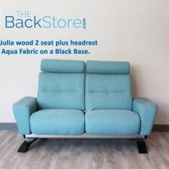 Aqua Sofa Firm Leather Stressless You Julia Loveseat And Ottoman Karma Fabric By