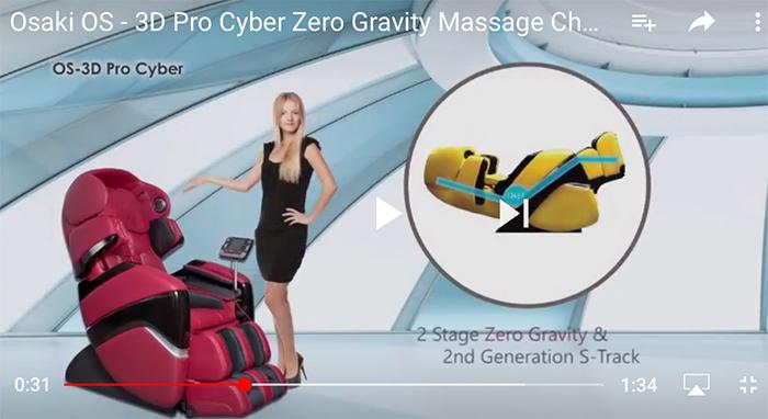 osaki os 3d pro cyber massage chair s dining 2 0 zero gravity recliner video