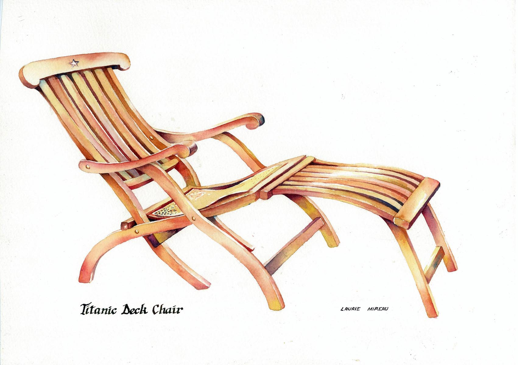 Titanic Deck Chair In The Beginningwas The Idea Patricia J Parsons