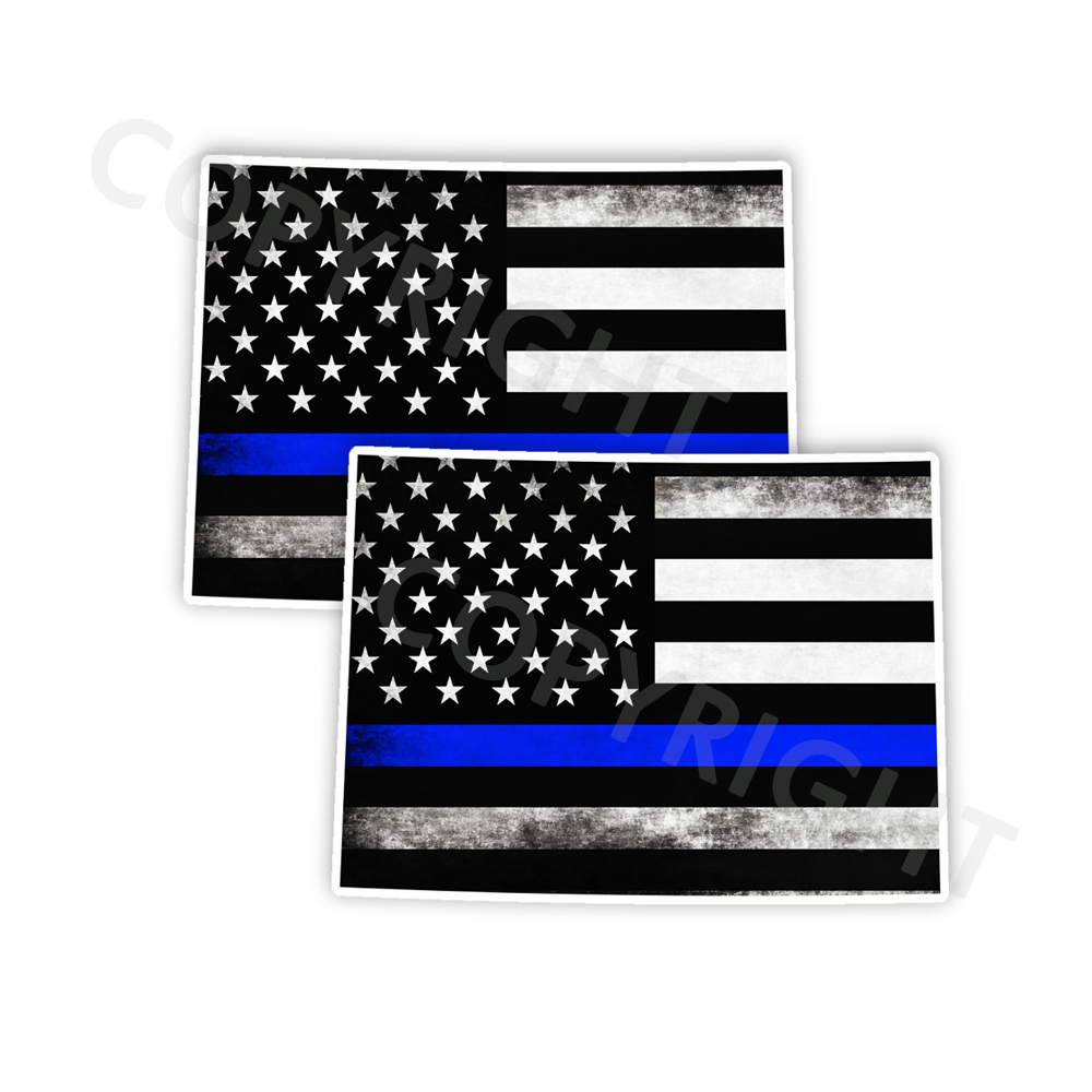 Thin Blue Line Colorado Bumper Stickers