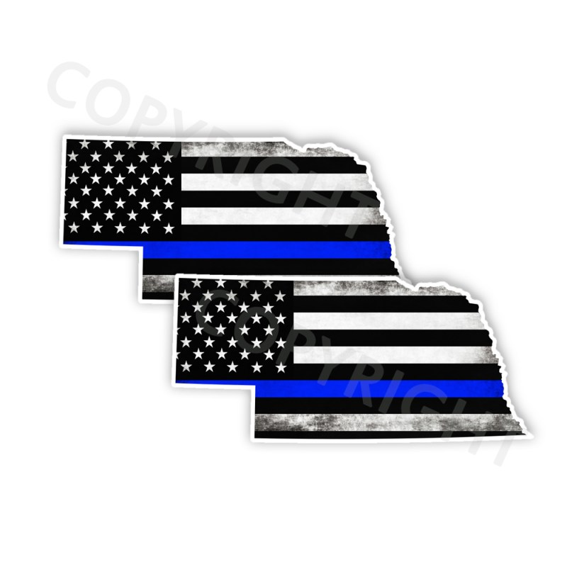Thin Blue Line Nebraska Stickers