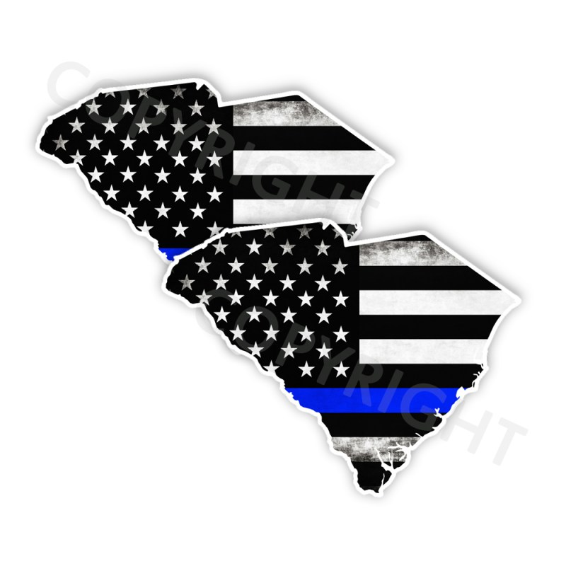 Thin Blue Line South Carolina Bumper Stickers