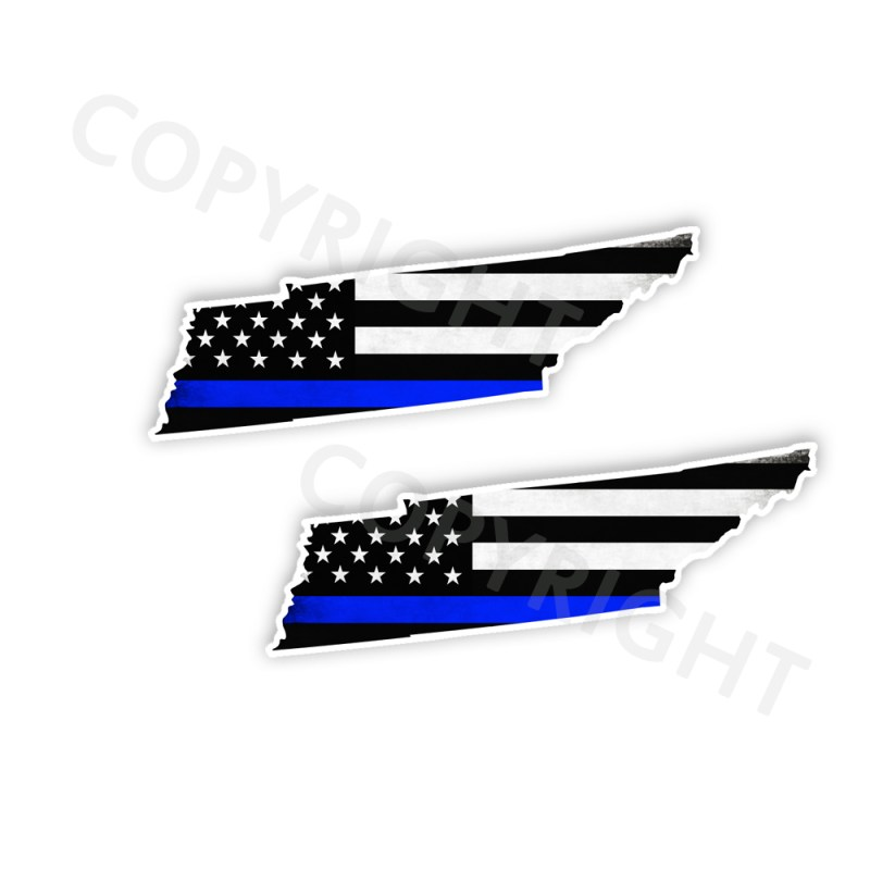 Thin Blue Line Tennessee Bumper Stickers