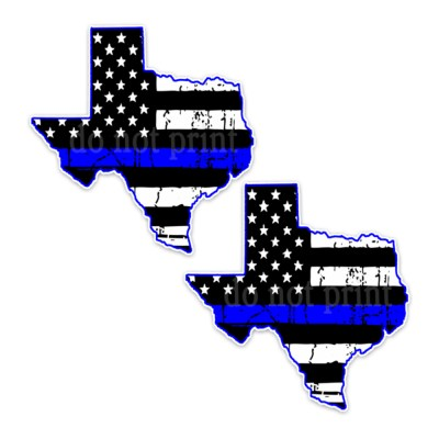 Thin Blue Line Texas Bumper Stickers