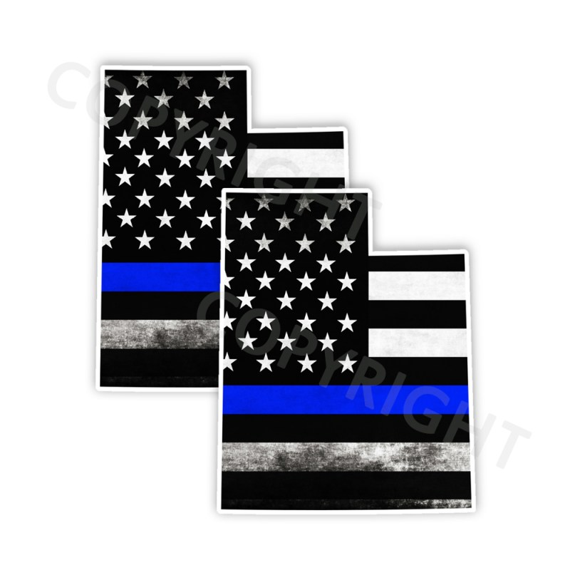 Thin Blue Line Utah Stickers
