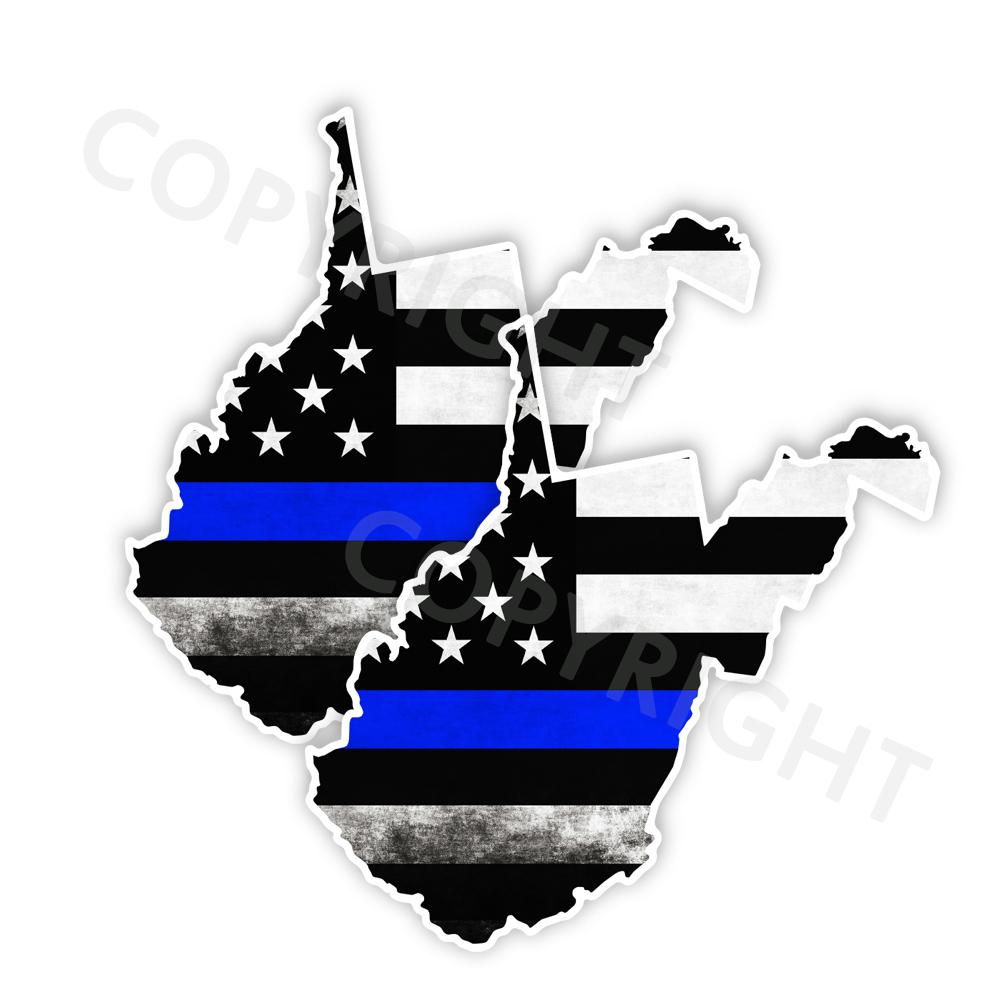 Thin Blue Line West Virginia Stickers