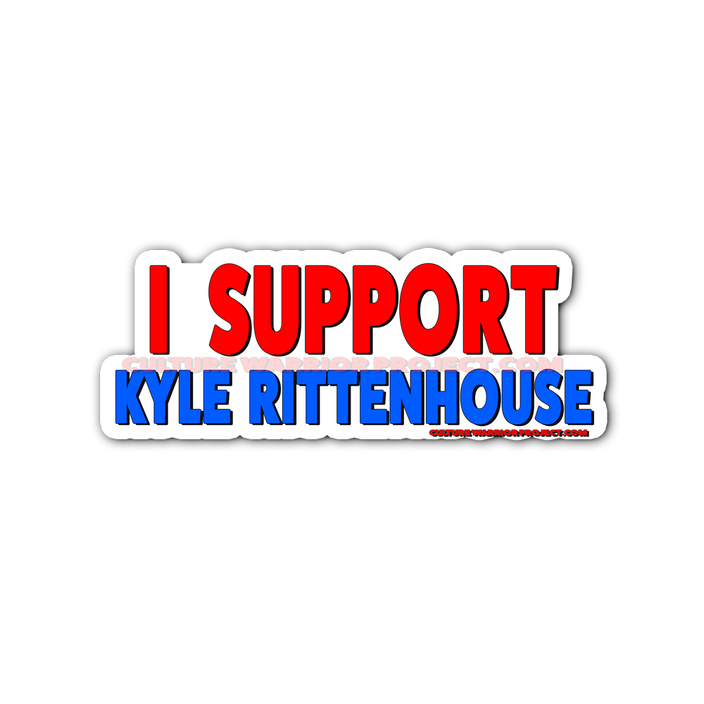 I Support Kyle Rittenhouse Stickers 2 Pack