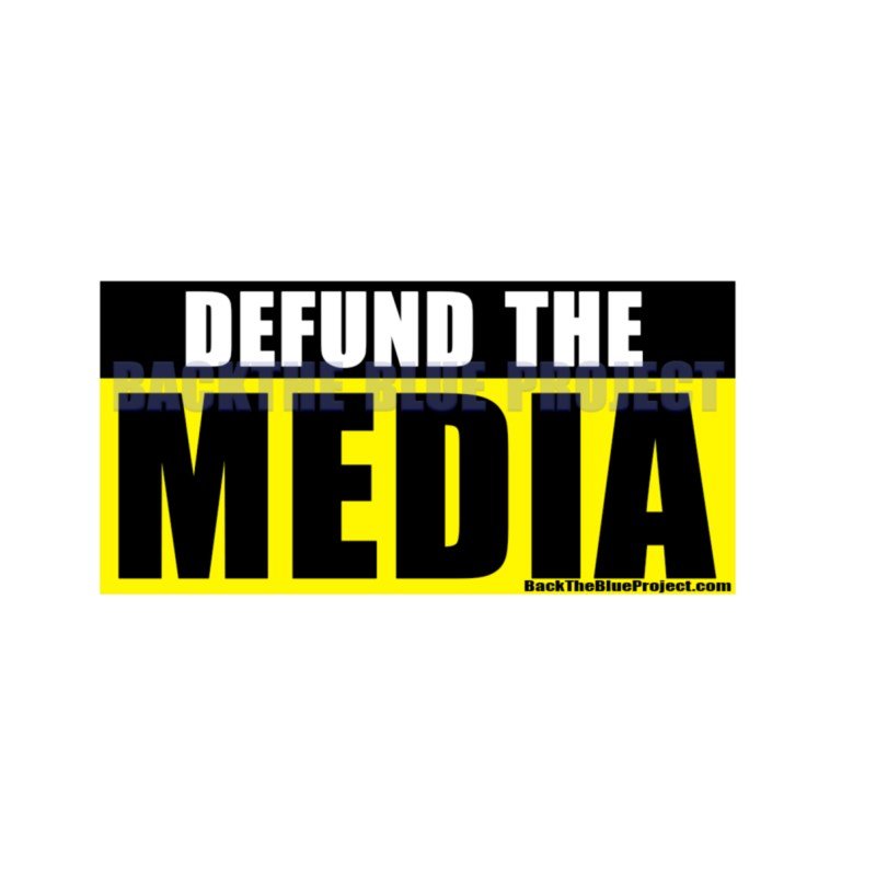 Defund The Media Stickers - 2 Pack