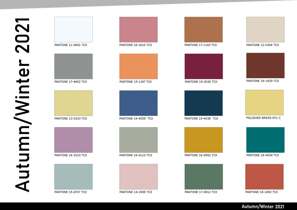 Autumn/Winter 2021-2022 Color Pantone Trends ⋆ Back to ...