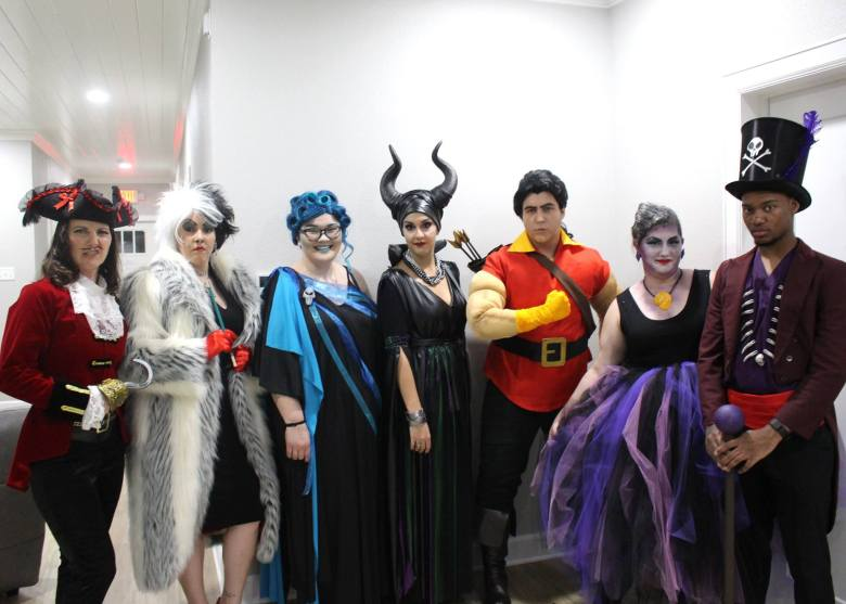 Group of Disney Villains Halloween costumes