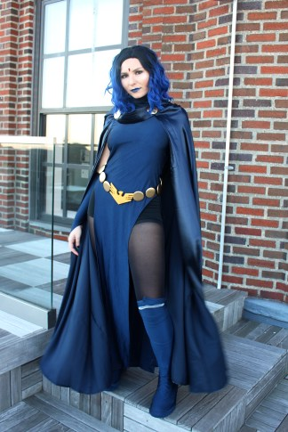 Sage Lucero dressed as Raven for Halloween 2019.