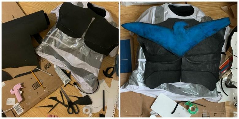 Nightwing foam armor in progress.