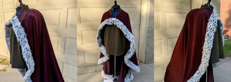 Quasimodo's tunic and cape on mannequin.